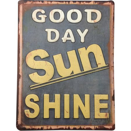 Sun Decor - Good Day Sun Shine Metal Wall Art. Home, Office, Kitchen, Shop, Decor. Gift for anyone. Product Size: 11.81 x 15.7 x 0.05