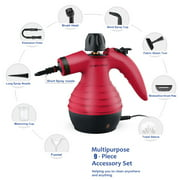 Multi-Purpose Handheld Pressurized Steam Cleaner 1050W Portable Steam Cleaner with 9 Accessories