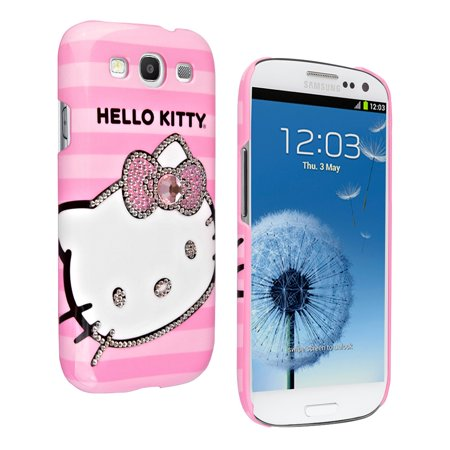 DIAMOND BLING Case Cover For Samsung Galaxy S3 GENUINE ... |Samsung Galaxy S3 Mini Case Hello Kitty