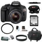 Canon EOS Rebel T5 DSLR Camera with EF-S 18-55mm IS II Lens and 16GB Deluxe Accessory Bundle