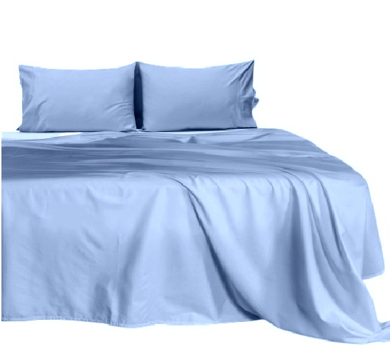 Waterbed Sheet Queen Size 4 Piece Attached Fitted Sheet Cotton 15 Inches Deep