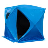 Outsunny Insulated Pop Up Portable Ice Fishing Shelter Tent (Single (2 - 4 Person))