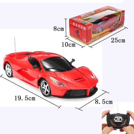 Radio Controlled Box - 1:24 Electric Remote Control RTR RC Racing Car Full FunctionToy w/ Flashing LED Lights Gift Box