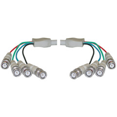 BNC x 4 Male to BNC x 4 Male Cable, Double-Shielded, 25 foot