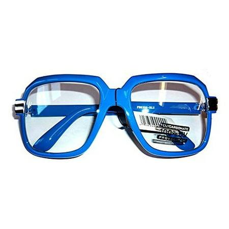 Oversized Blue Hip Hop Glasses Rapper Run DMC Gazelle Rap Sunglasses 80s (Gazelles Glasses)