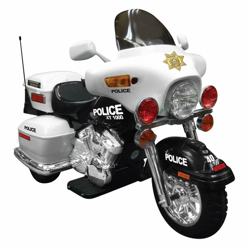 Kid Motorz Patrol H. Police 12-Volt Battery-Operated Ride-On