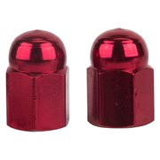 VALVE CAPS TRICK TOP HEX DOME RED
