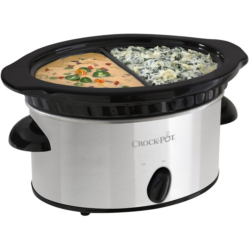 Crock-Pot Double Dipper Slow Cooker, Stainless Steel