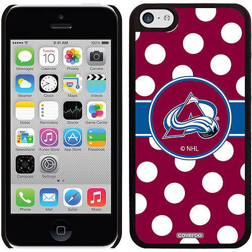 Colorado Avalanche Polka Dots Design on iPhone 5c Thinshield Snap-On Case by Coveroo