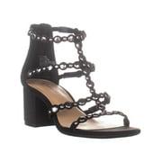 Womens I35 Helmi Strappy Block Heeled Sandals, Black, 7.5 US