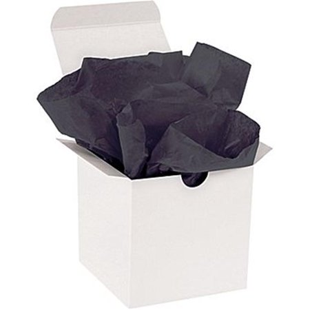 box partners t1520d 15 x 20 in. black gift grade tissue paper for 10 lbs basis weight Weight Box Paper