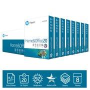 HP Printer Paper, Home & Office 20lb, 8.5x11, 8 Ream, 4000 Sheets