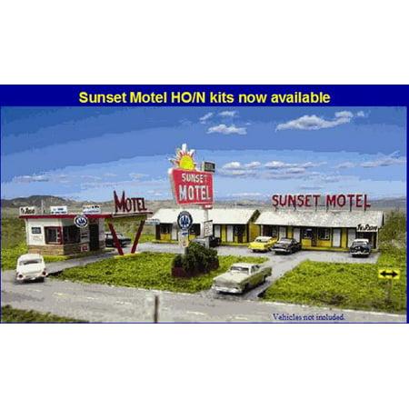 Blair Line 1001 N Sunset Motel Laser-Cut Building Laser-Cut Building Kit