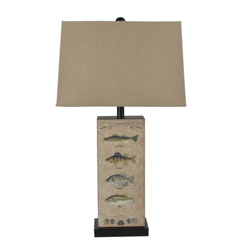Santa's Workshop Leather Fish 28'' Table Lamp