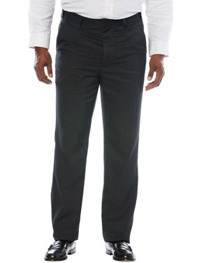 KS Signature KS Signature No Hassle Classic Fit Expandable Waist Plain Front Dress Pants