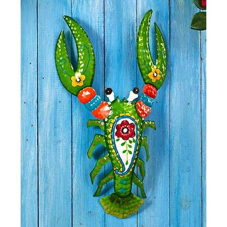 Lobster Tropical Metal Wall Art Sculpture Beach Theme Home Decor Accent ()