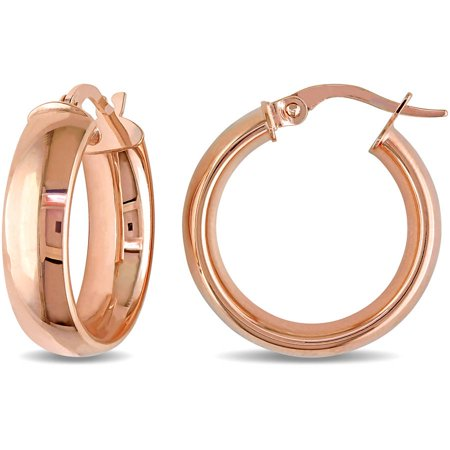 10kt rose gold hoop earrings