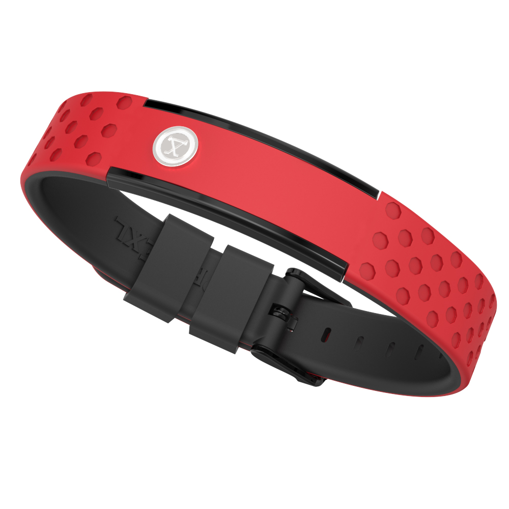 ProExl 9K Sports Golfers Magnetic Bracelet, Swim, Shower, Surf, Wear it Everyday (Red Black) by ProExl