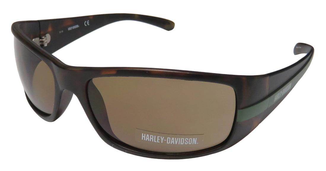 768ed7cb21b18 New Harley-Davidson Hd 0118v Mens Designer Full-Rim 100% UVA   UVB Tortoise    Dark Green Genuine Masculine Design Sunnies Shades Frame Brown Lenses ...