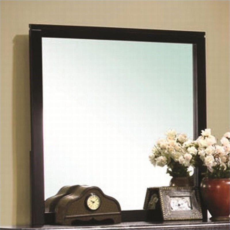 Bowery Hill Square Mirror in Brown Black Stain by Bowery Hill