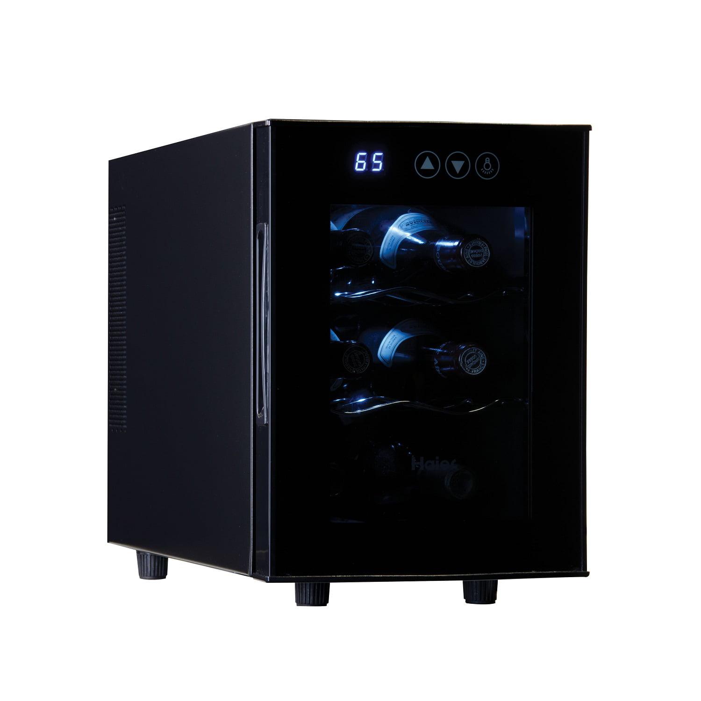 Haier 6-Bottle Black Counter-top Wine Cooler with Digital Display ...