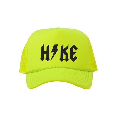 bef5e6f6e215af Hike Thunderbolt Adjustable Foam Trucker Hat w/ Rope Brim - Neon Green -  image 2 ...