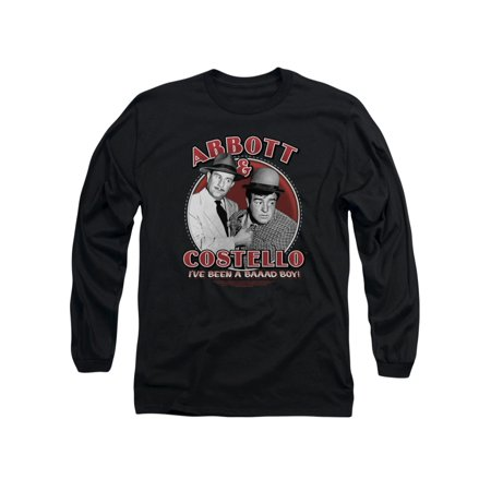 Abbott & Costello Comedy Duo Classic Bad Boy Adult Long Sleeve T-Shirt Tee