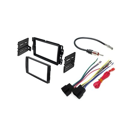 Chevrolet, GMC Stereo Radio Double Din Dash Mounting Install Bezel Trim  With Wiring Harness Kit, Installing a Double Din aftermarket radio in  your  ,