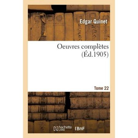 Compl Set (Oeuvres Compl Tes. Tome 22)