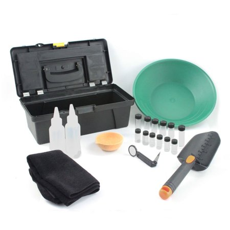 ASR Outdoor 21pc Complete Gold Mining Prospecting Combo Kit with Bonus Gold Pan Metal Upgrade Combo