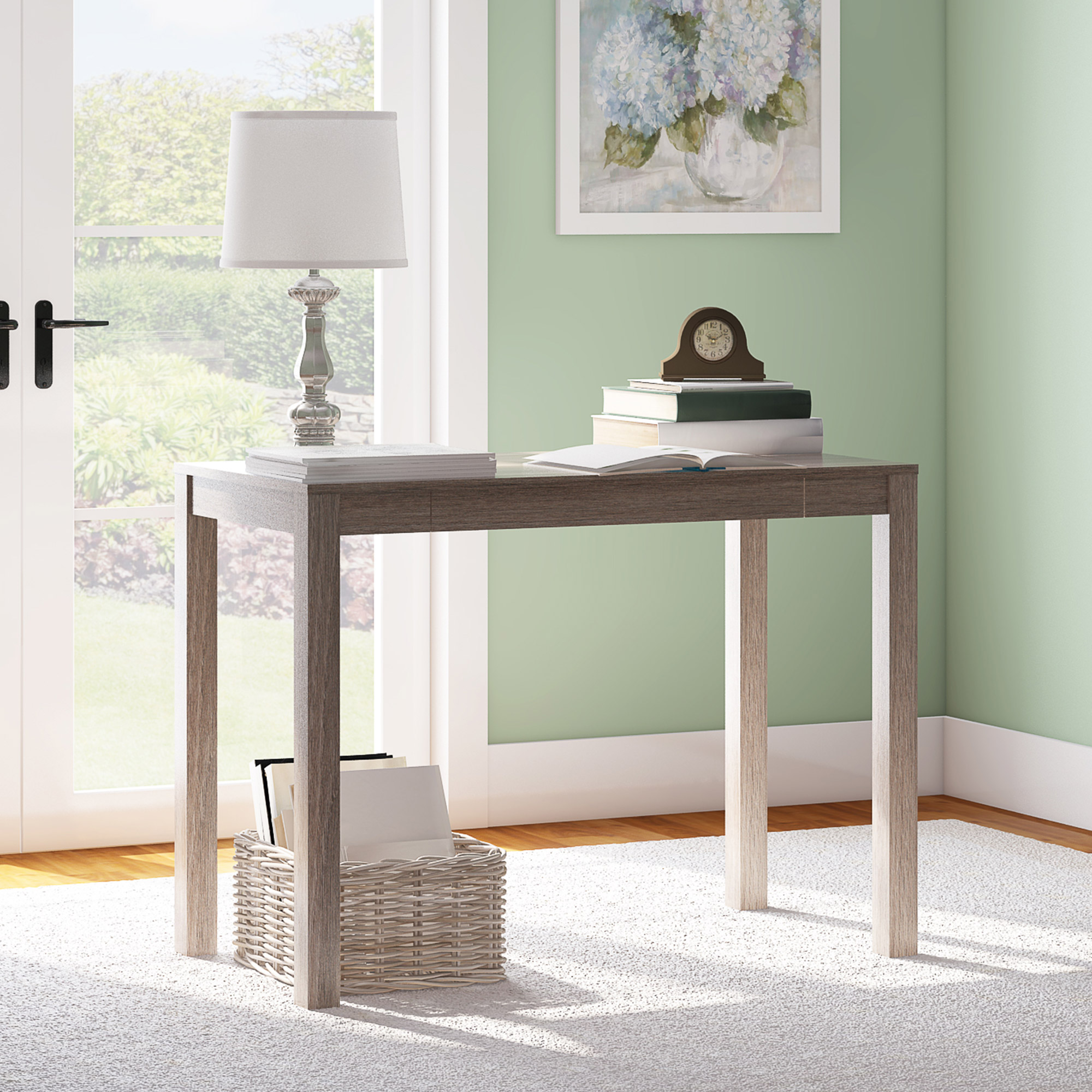 Mainstays Parsons Writing Desk With Storage Drawer