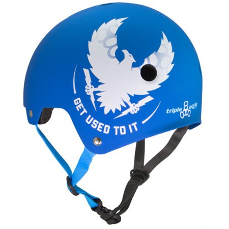 Eps Summer Bicycle Helmet (Triple Eight Mike Vallely Get Used To It Dual Certified Bicycle/Skate Helmet with EPS Liner)