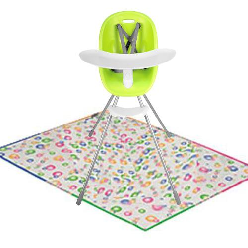Phil & Teds Poppy High Chair Lime with Splat Matt by phil%26teds