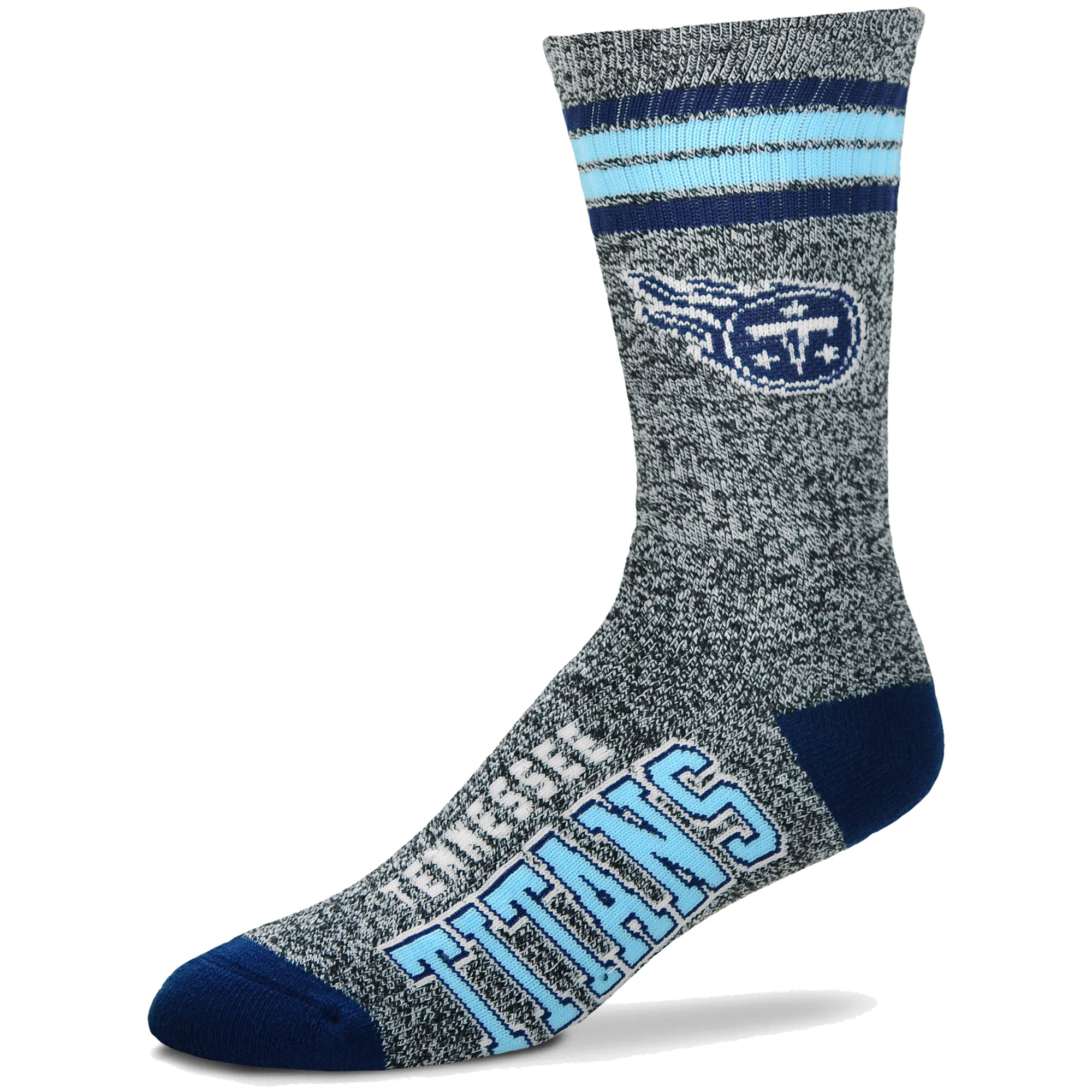 Tennessee Titans For Bare Feet Got Marble Crew Socks - Gray - L