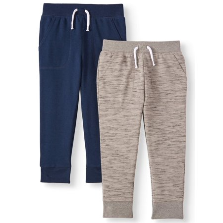 Garanimals French Terry Joggers, 2 Pack (Toddler Boys)