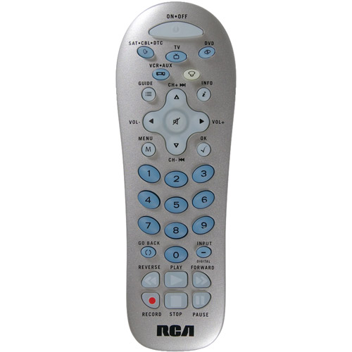 RCA RCR412SIZ 4-Device Backlit Universal Remote, Silver