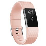 Fitbit Charge 2 Bands Band Replacement Small Large Silicone Special Blush Pink, Small