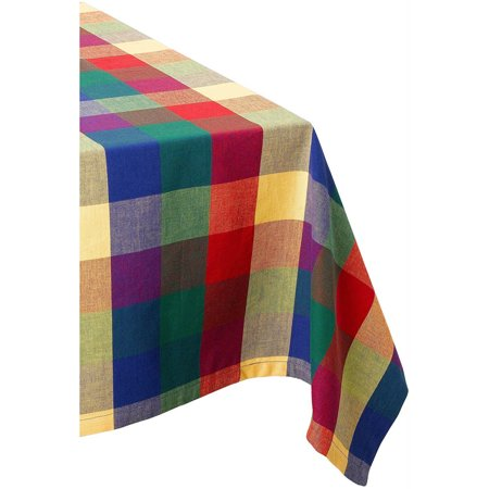 DII Indian Summer Checkered (Indian Tablecloth)