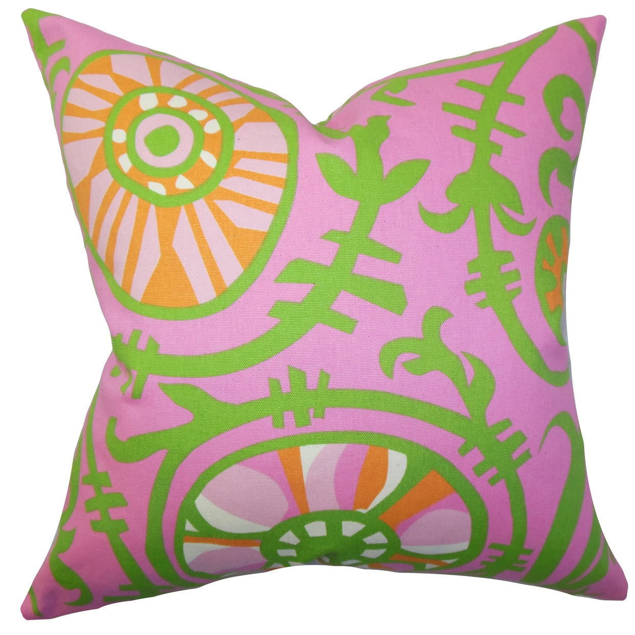 The Pillow Collection Janek Floral Euro Sham Pink