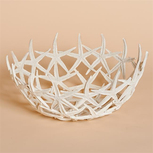 Harvest of Barnstable SFBWL 14 W X 61 x 4 inch D Resin Starfish Bowl In White Gifts