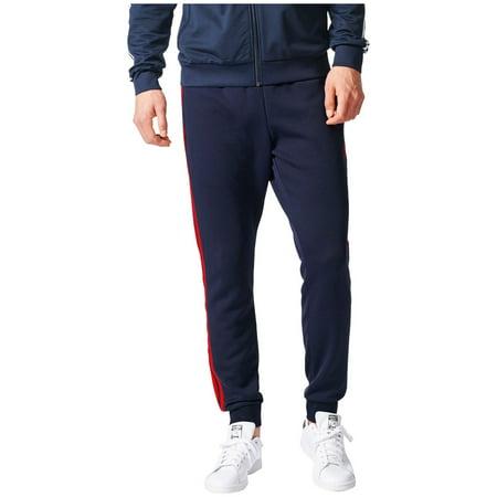 adidas Originals Men's Superstar Cuffed Track Pants (Legend Ink/Core Red, S) Adidas Originals Superstar Track