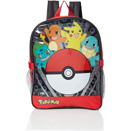 Pokemon Boys' Pocket 15 inch Backpack with Lunch Kit, Red, Official Pokemon backpack By Pokmon Ship from (Best Way To Ship A Backpack)