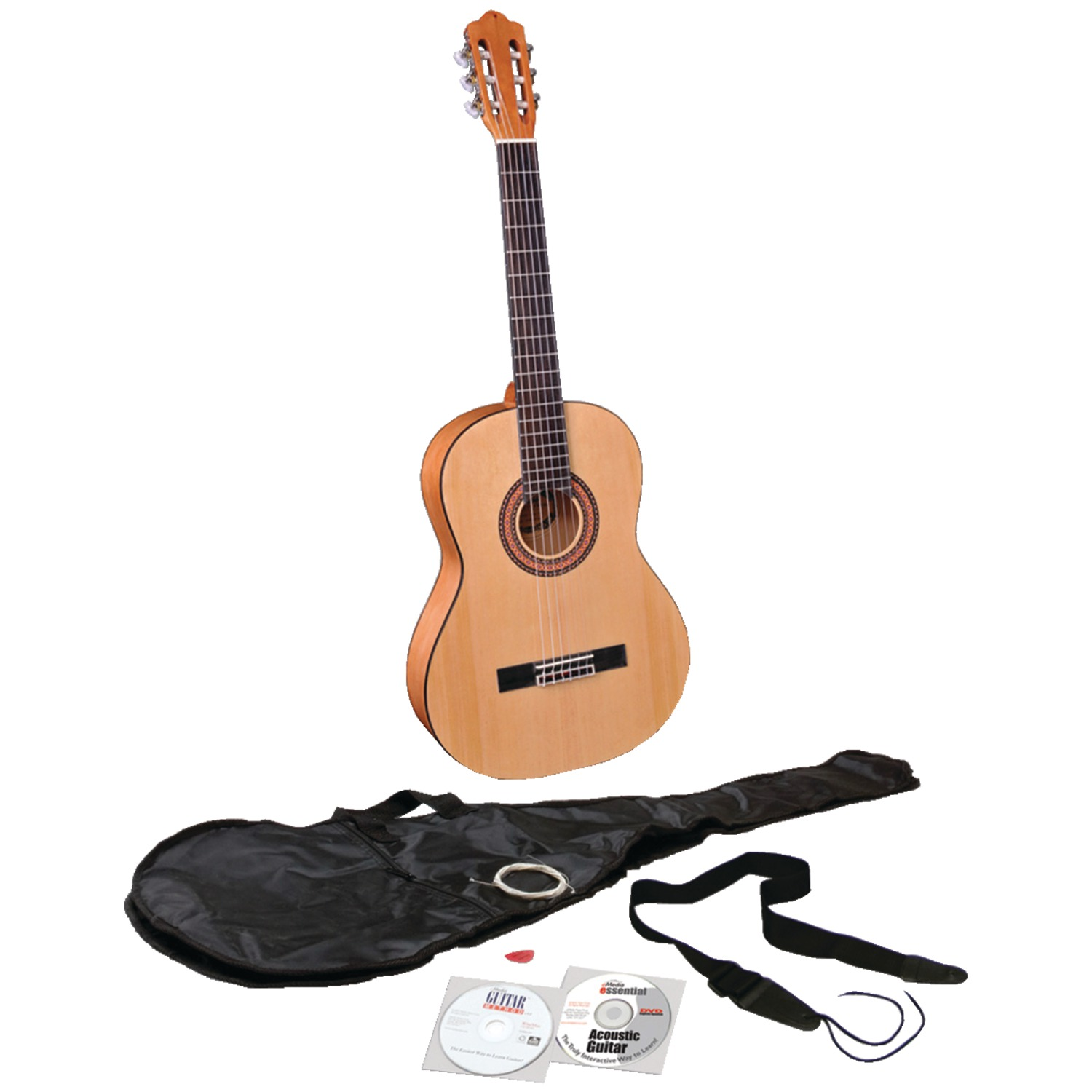 eMedia Music EG07107 Teach Yourself Classical Guitar Pack V5 with Full-Size Guitar
