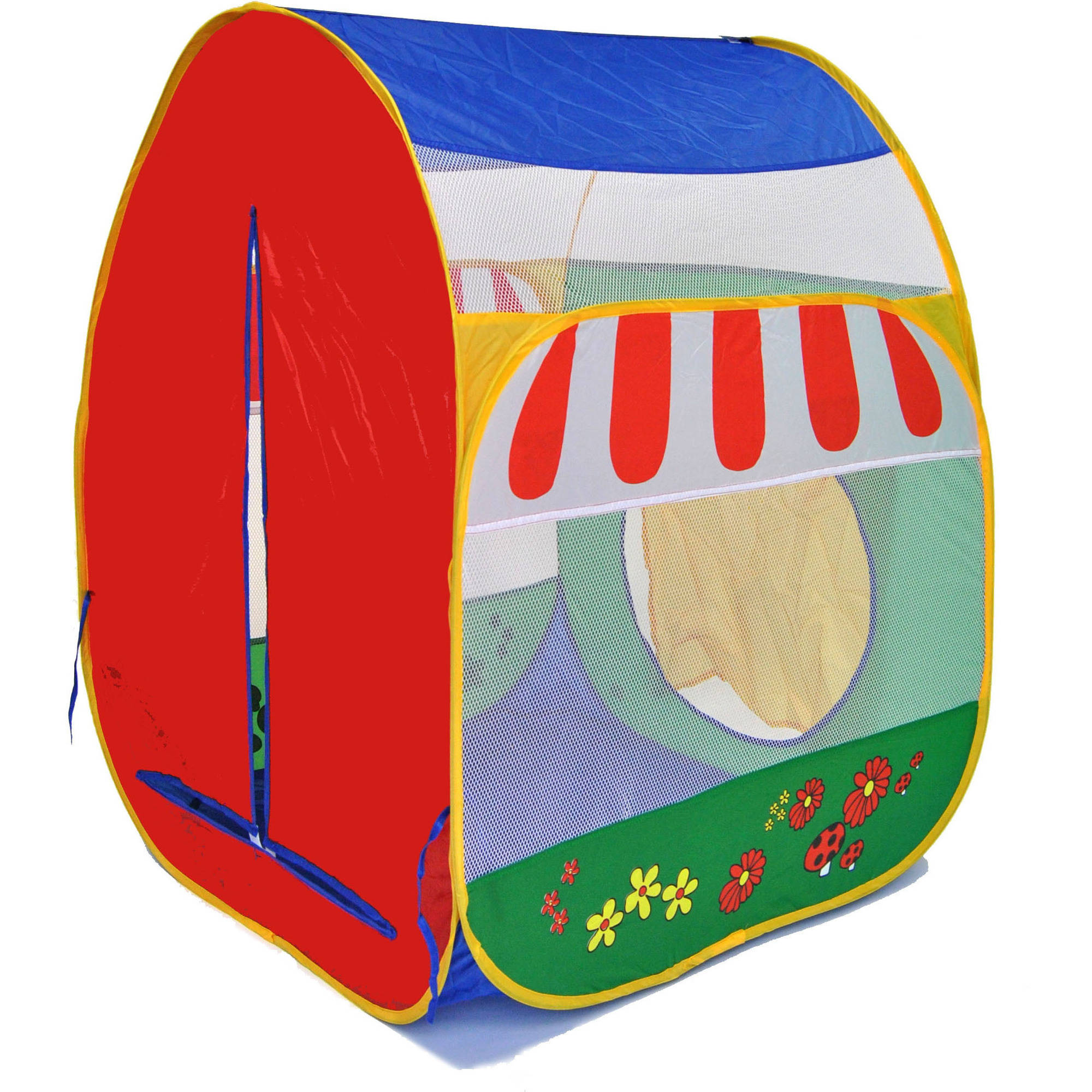 Green Garden Twist Ball Tent for Kids with Safety Meshing for Child Visibility and Carry Tote