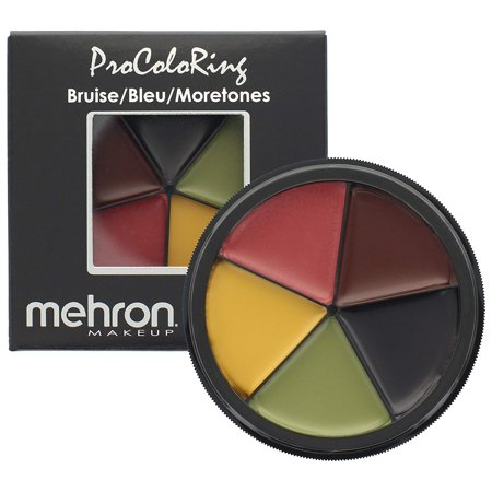 Makeup 5 Color Bruise Wheel for Special Effects| Movies| Halloween, 5-Color palette of cream makeup By Mehron](Halloween Special Effects Makeup Tutorials)