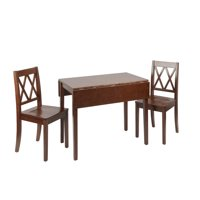 Maisel 3 Piece Drop Leaf Dining Set with Decorative Back Chairs