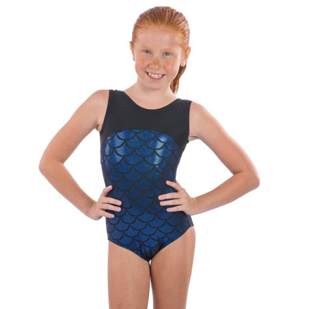 6f64f6621 Lizatards - Girls Gymnastics Leotard Dory Mermaid Fabric Girls XS(4 ...