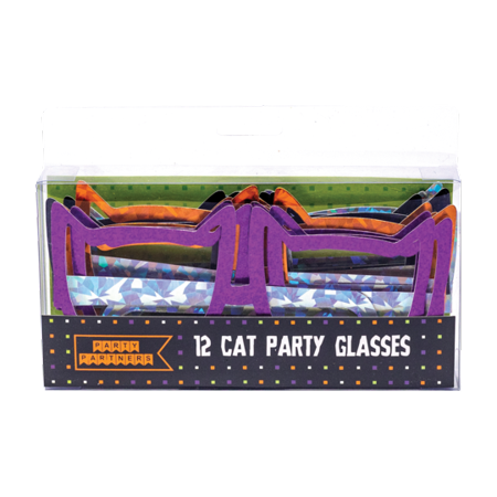 Halloween Party Glasses - Metallic Cats Set of 12 ()