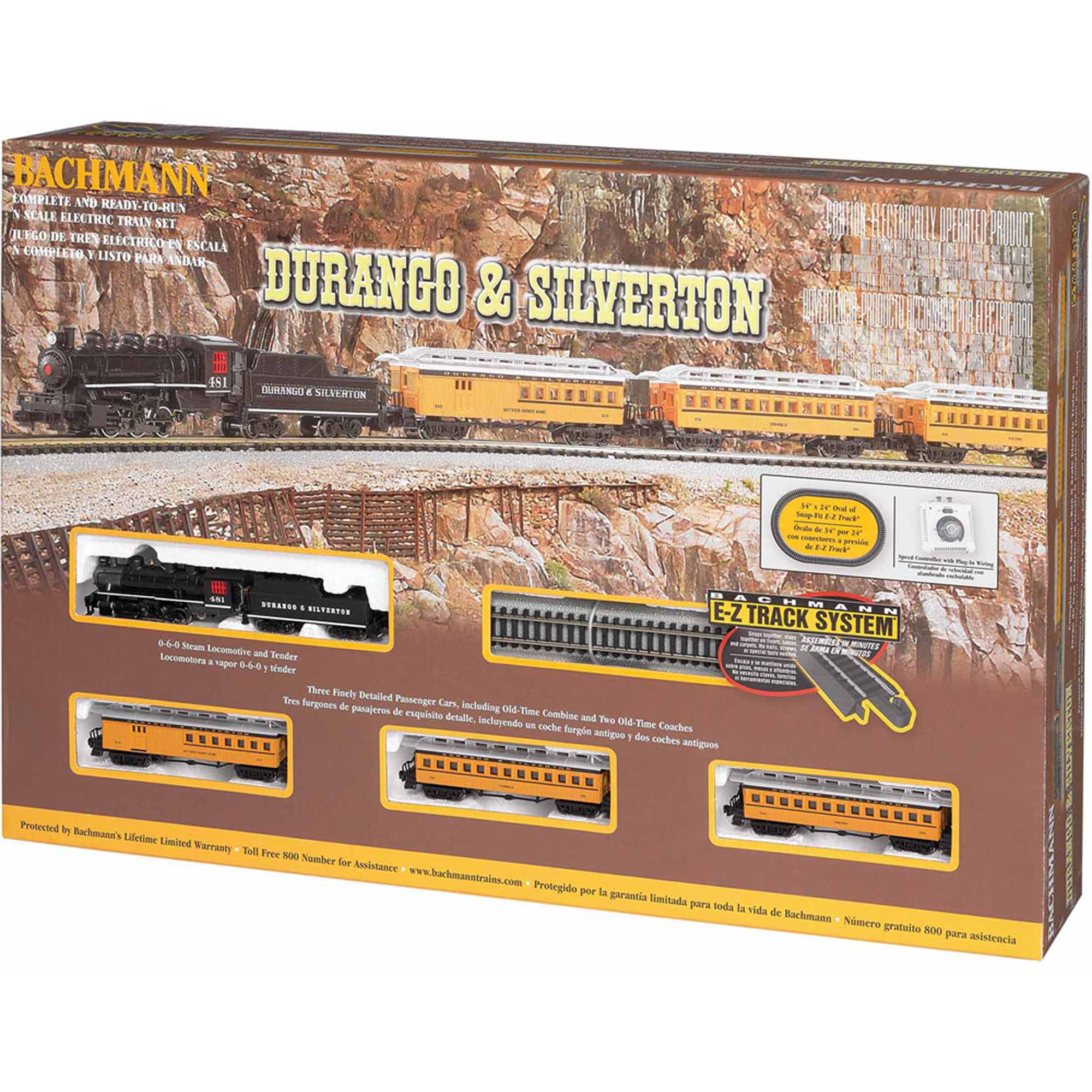Bachmann Trains Durango and Silverton, N Scale Ready-To-Run Electric Train Set