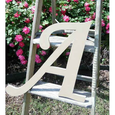 Unfinished DIY Letter Decor, 12'' Monotype A,  Wooden Alphabet Letter